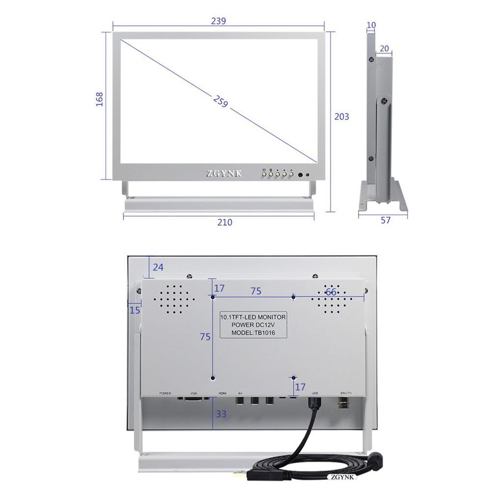 爆款10寸IPS白色觸摸顯示屏高清HDMI工業設備醫療采耳儀器專用顯示器..