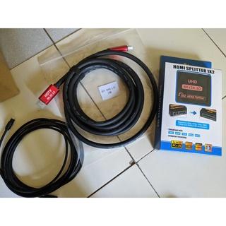 HDMI 分配器 一進二出 支援4K  HDMI 2.0 SPDIF數位光纖 5.1/ 7.1聲道 Toslink 3米 新北市