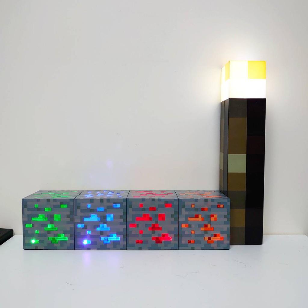[台灣現貨] Minecraft 當個創世神 麥塊 露營 夜遊 火把 可壁掛 LED 小夜燈 遊戲週邊 火把燈 礦石燈
