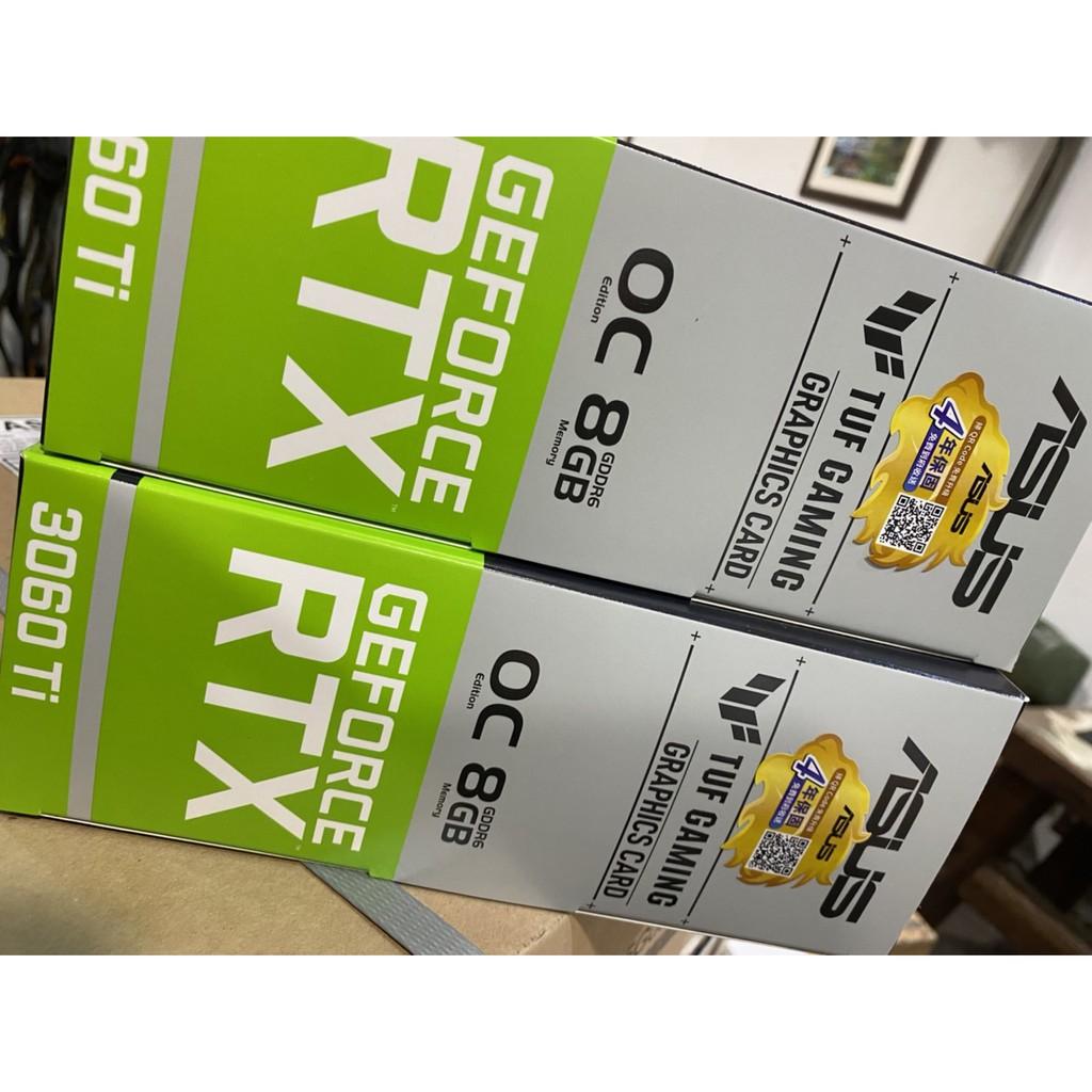 任意搭-- 折扣請洽詢 隨時可能到貨 TUF-RTX3060TI-O8G-GAMING 全新盒裝
