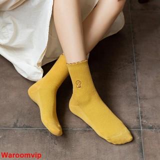 🔥全場滿10件出貨ins潮秋冬季中筒襪可愛學院風純棉花邊襪少女心日系學生軟妹襪子女女