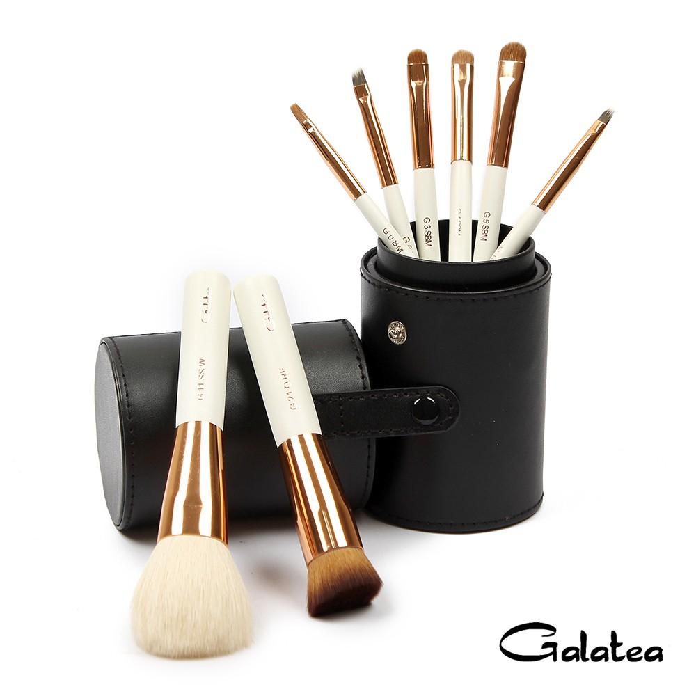 Galatea葛拉蒂 金顏短柄系列 8支裝頂級彩妝刷具組-黑(葛拉蒂品牌旗艦店)