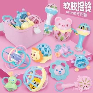 母嬰玩具3-6-12個月寶貝兒搖鈴 0-1歲寶寶益智早教幼兒手牙膠搖鈴