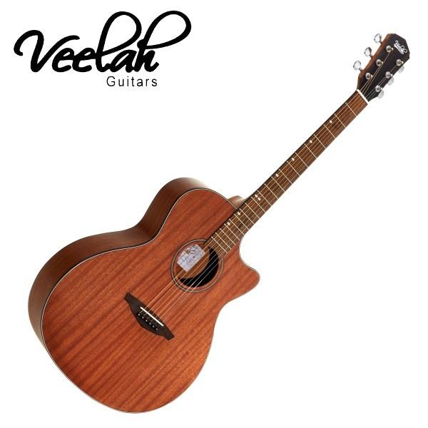 Veelah VGACMM 40吋 民謠吉他 全桃花心木 合板 - 【他,在旅行】