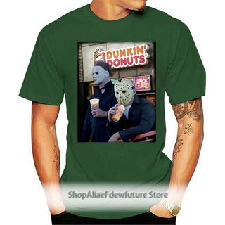 Michael Myers和Jason Voorhees喝Dunkin'Donuts萬聖節襯衫款式T卹