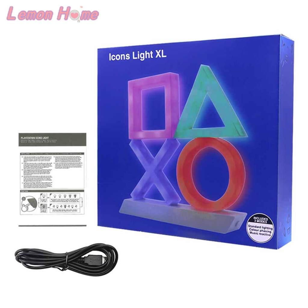 具有 3 種燈光模式語音控制音樂反應遊戲室照明的 Playstation Icons Light XL