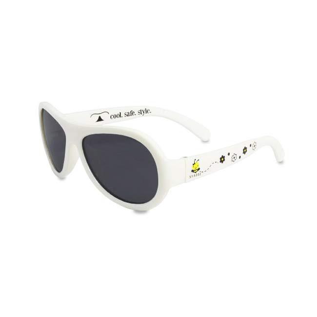 瑞士SHADEZ 設計款太陽眼鏡~0~3歲(白色蜜蜂)【麗兒采家】