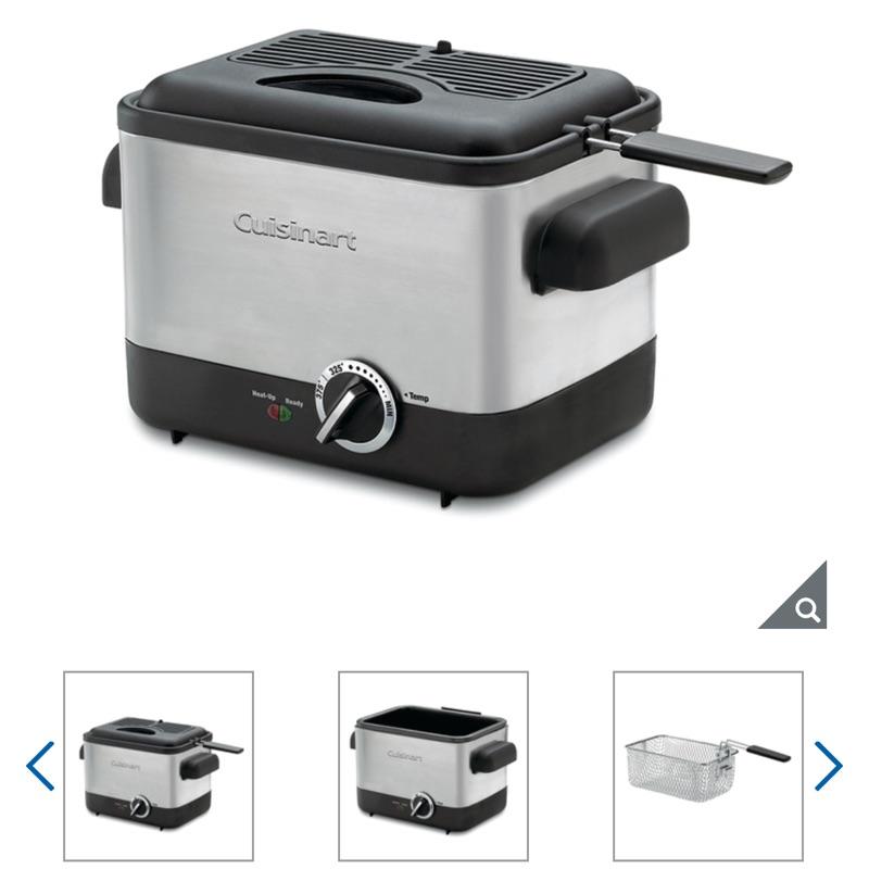 [好市多線上購物]宅配🚛免運🆓 可刷卡💳 Cuisinart 不鏽鋼輕巧型溫控油炸鍋