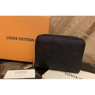 法國二手正品LV M60152 黑色 EPI 水波紋 拉鍊零錢包 桃園市