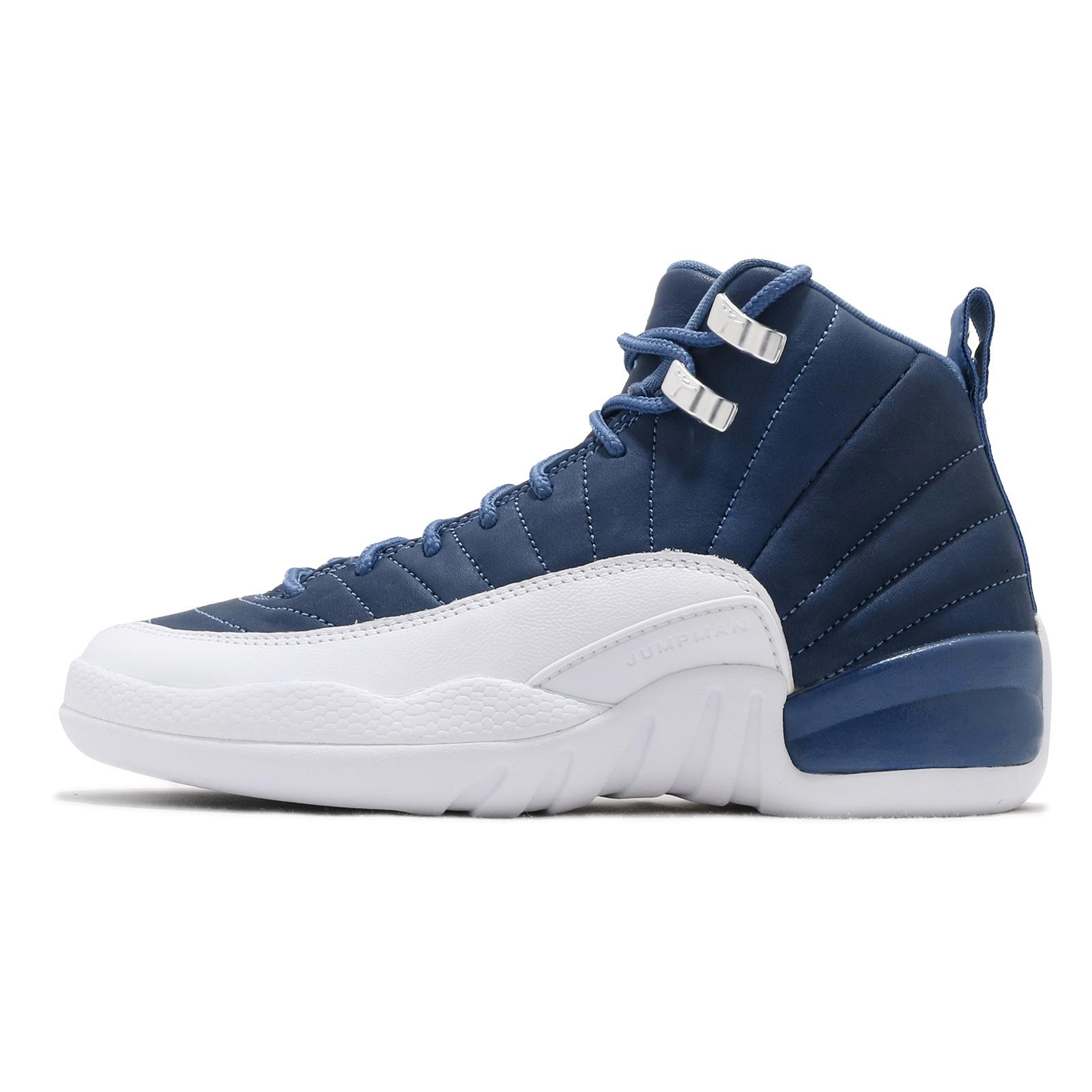 Nike 籃球鞋 Air Jordan 12 Retro 藍 白 女鞋 喬丹 AJ12 【ACS】 DB5595-404