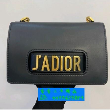 香香二手精品Dior(迪奧) jadior 中號 黑金牛皮荔枝紋 斜背包 肩背包 手拿包