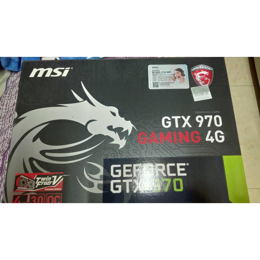 微星 MSI GTX970 GAMING 4G  非礦卡 遊戲卡升級汰下