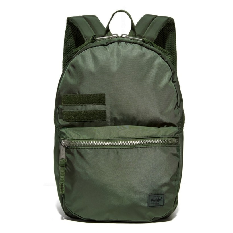 Herschel Lawson Surplus 光滑布 尼龍 魔鬼氈 軍綠 綠色 迷彩 筆電層 後背包 [現貨]