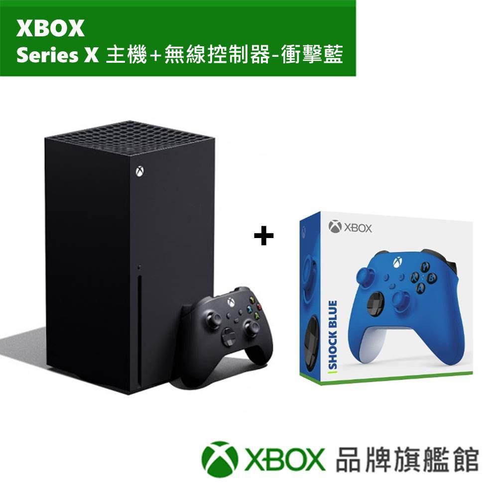 Microsoft 微軟 Xbox Series X 主機+Game Pass終極版3個月+無限控制器衝擊藍色 同捆組