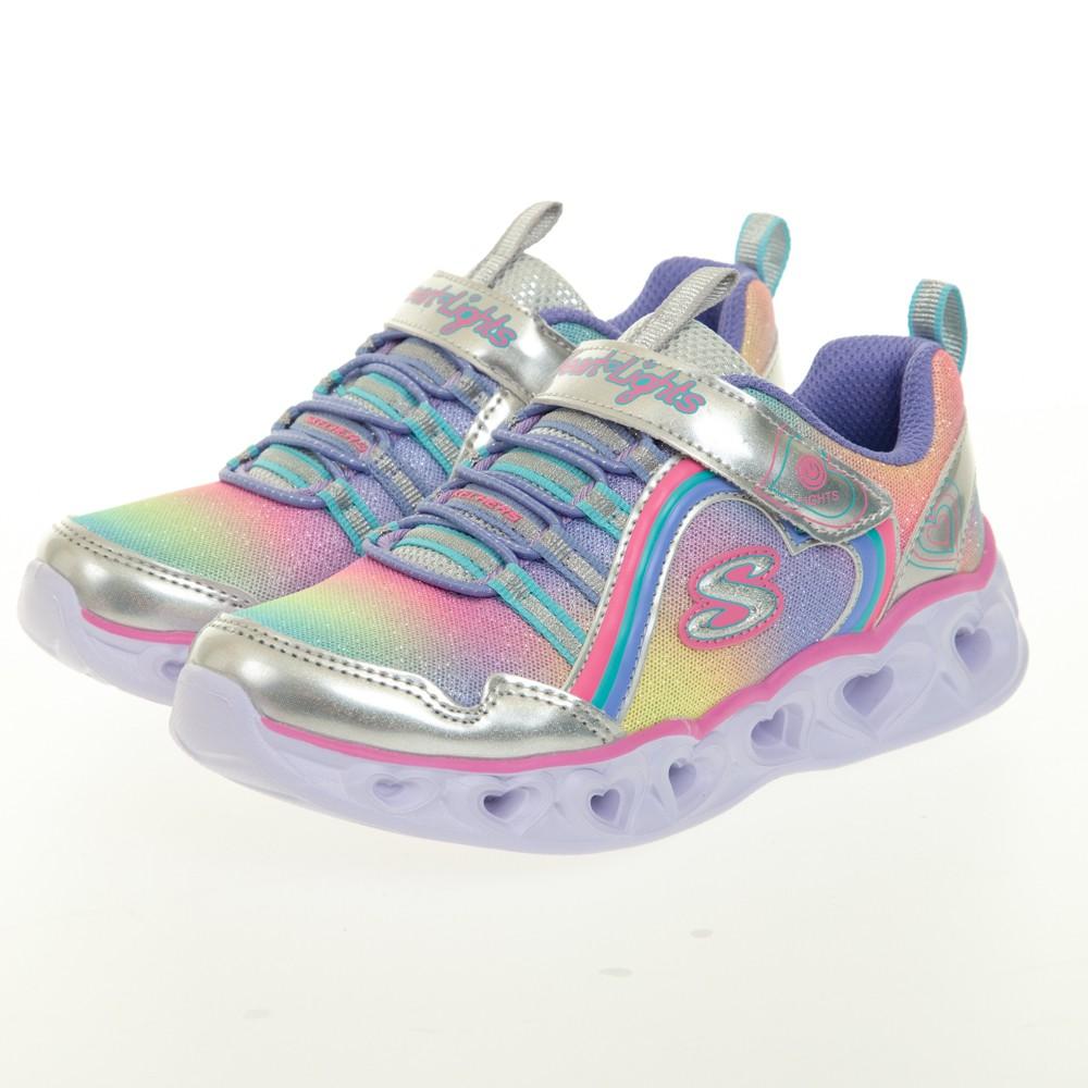 SKECHERS 女童系列 HEART LIGHTS 閃燈鞋 - 302308LSMLT