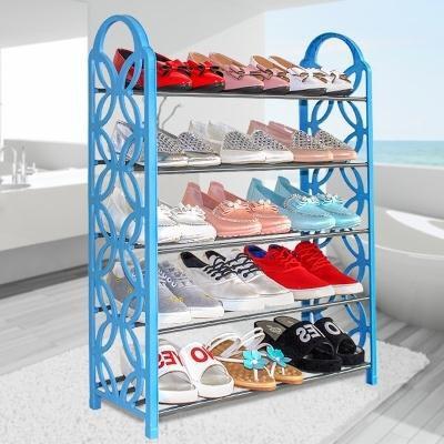簡易多層鞋架特價經濟型鞋櫃現代簡約組裝不銹鋼塑料鐵藝收納防塵