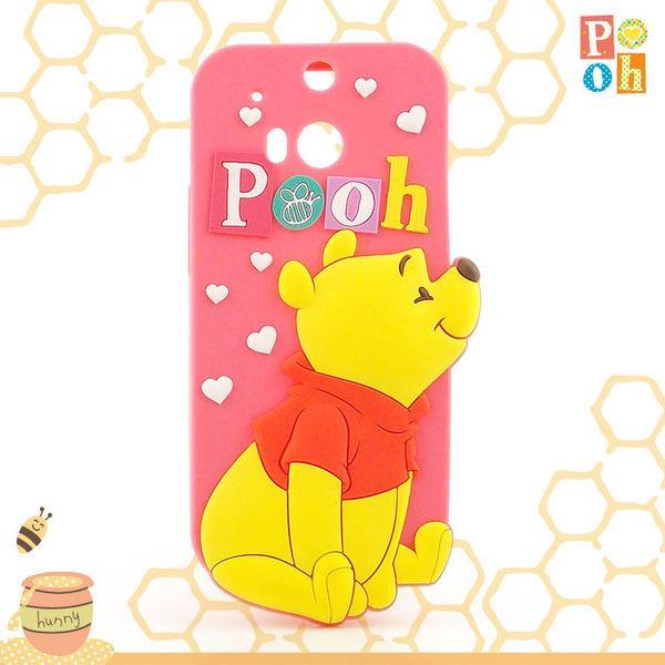 【正版授權】【Disney 】迪士尼 HTC One (M8) Pooh維尼熊2D立體保護套