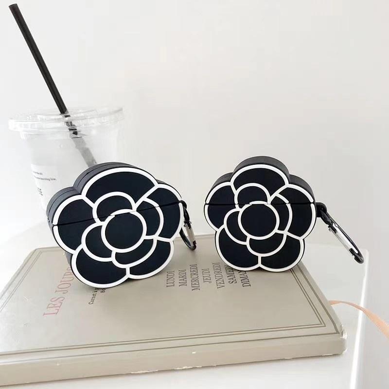 現貨 Chanel香奈兒泫雅山茶花蘋果耳機保護套  AirPods1/2  AirPods Pro 硅膠藍牙耳機套保護套