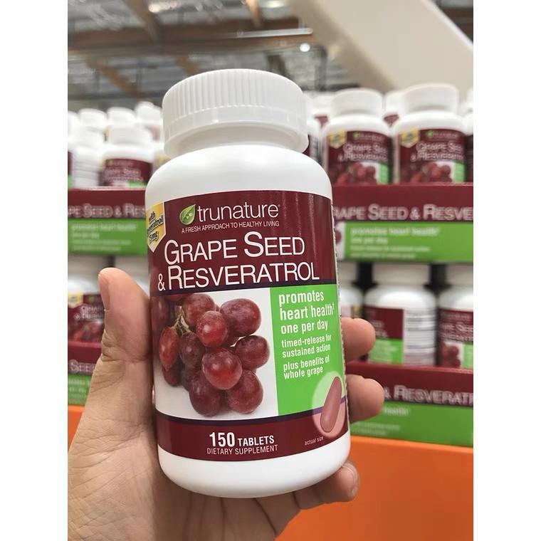 美國Trunature 葡萄籽+白藜蘆醇精華 Grape Seed  150粒yixin代購