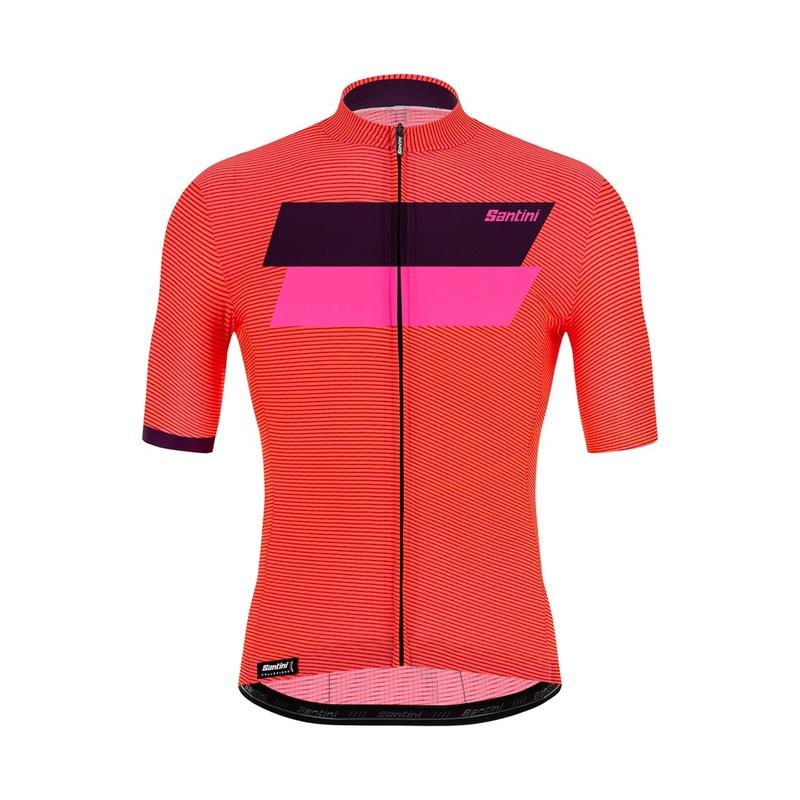 SANTINI 騎行運動衫簡單專業比賽公路自行車高端速乾防風騎行短袖上衣