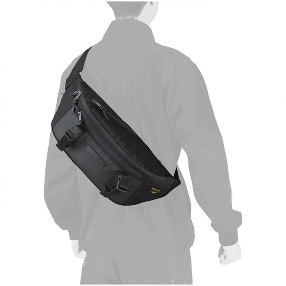 日本原裝進口~美津濃 MIZUNO PRO 軍規防水CORDURA布料 運動胸包 單肩背包 腰包(1FJD190209
