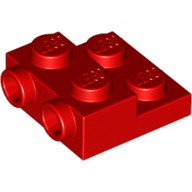LEGO 6061711 99206 紅色 2x2 2/3 側接轉向 薄板