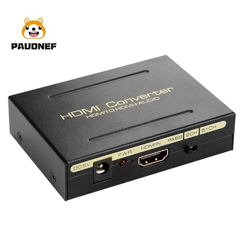 1080P HDMI轉HDMI光學SPDIF RCA L/R提取轉換器音頻分配器轉換器適配器,用於PS3電腦HDTV