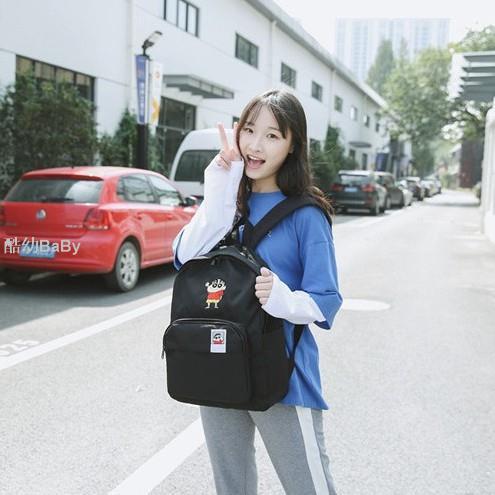 韓國SPAO 蠟筆小新後背包 學生書包 帆布包 動感超人 電腦包 雙肩包 背包 閨蜜包 交換禮物