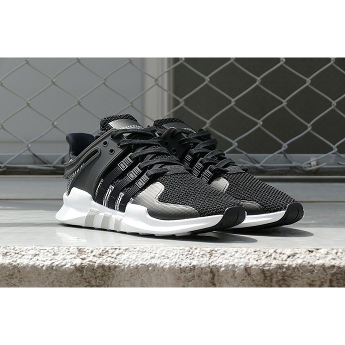 timeless design dc105 713ef ADIDAS EQT SUPPORT ADV BY9585 男鞋 黑白 條紋 編織 慢跑鞋 正品