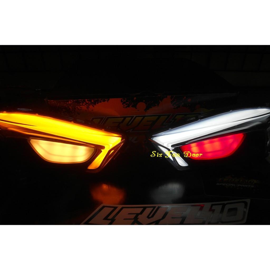 『六扇門』LEVEL10 四代 方向燈 導光 LED 方向燈 日行燈 勁戰 四代 變色 小燈 科技 光導 七彩 雷神