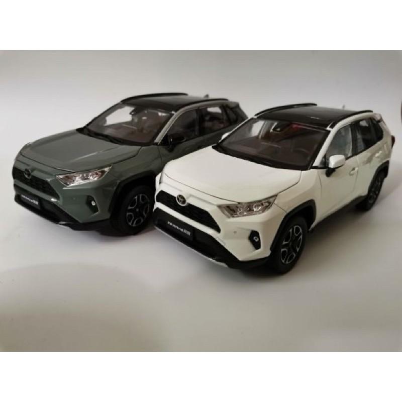 特價 最便宜 合金模型 現貨 1:18 TOYOTA rav4 五代 1/18 模型車 模型 模型盒 5代模型車