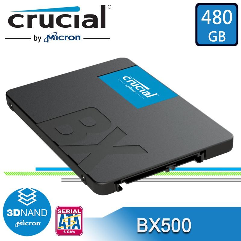 美光 BX500 480GB 2.5吋 SSD 固態硬碟 Crucial SATA3 480G【每家比】