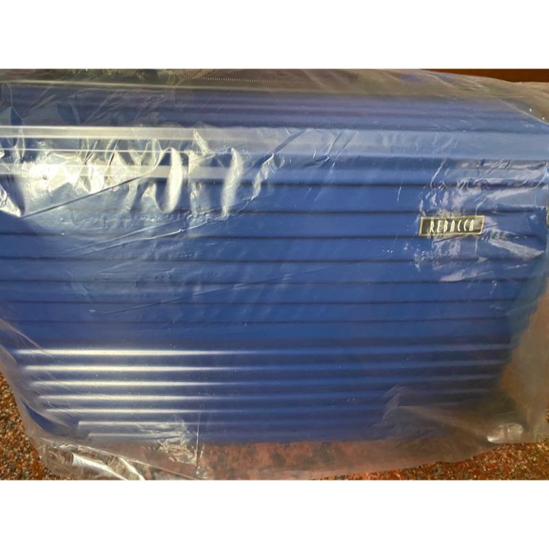 全新-REBACCA藍色行李箱20吋(四輪密碼鎖)下單即可挑選任一贈品