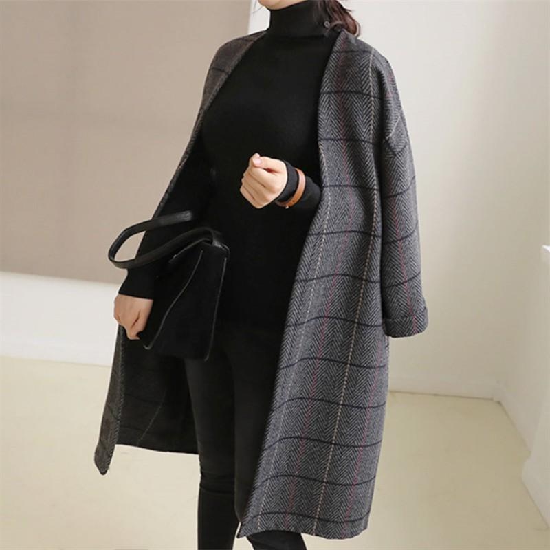 大衣外套 呢子外套 外套女 爆品中長款外套搶手新款韓版簡約學生百搭寬鬆呢子大衣韓系毛呢外套