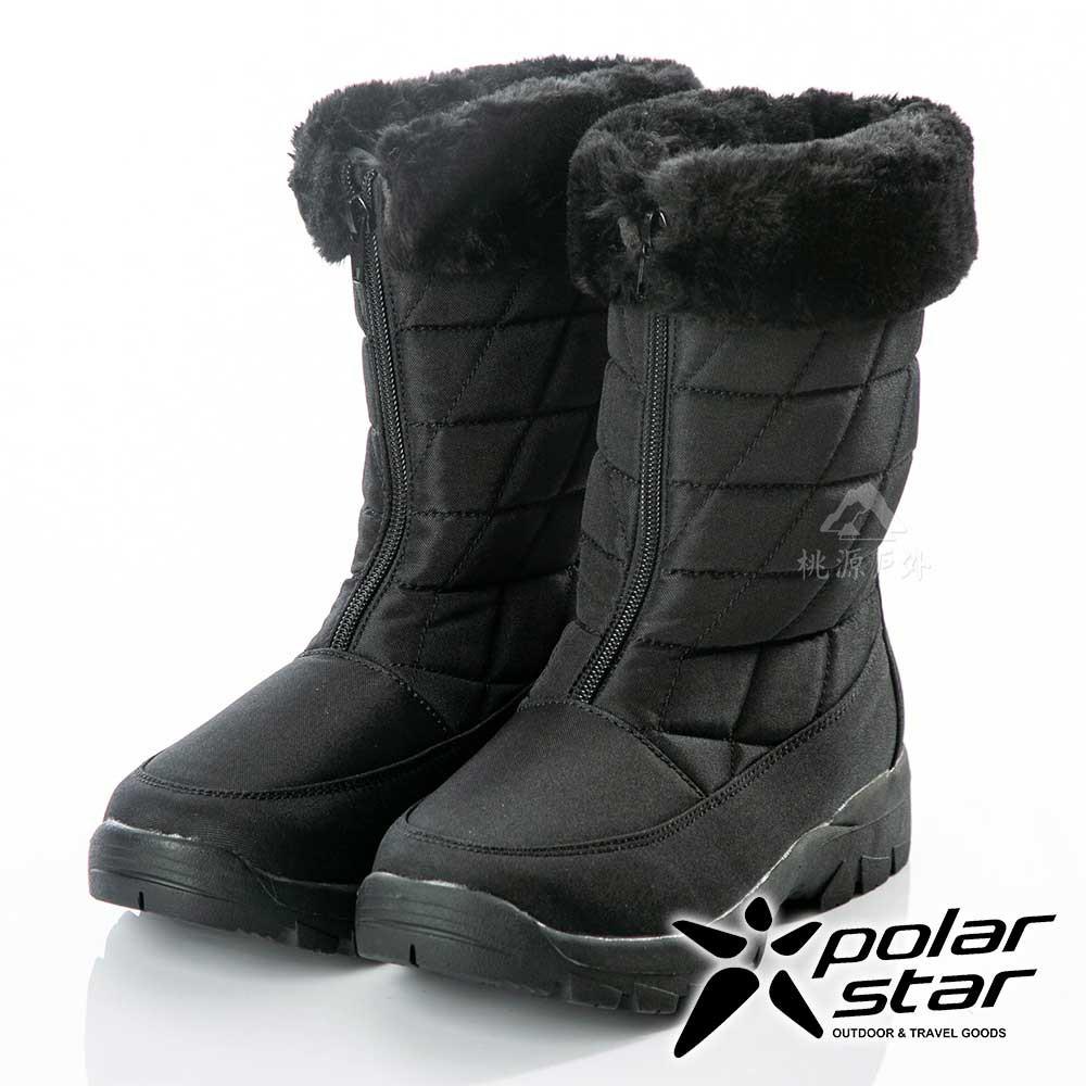 【PolarStar】女保暖雪鞋『棕』P18630 (冰爪 / 內厚鋪毛 /防滑鞋底)