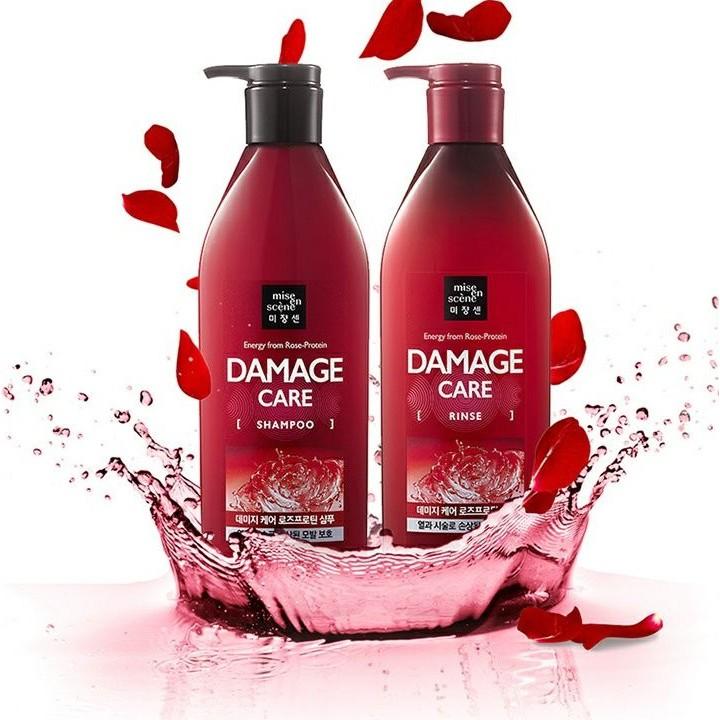 MISE EN SCENE DAMAGE CARE 洗髮精&潤髮乳 容量:680ml