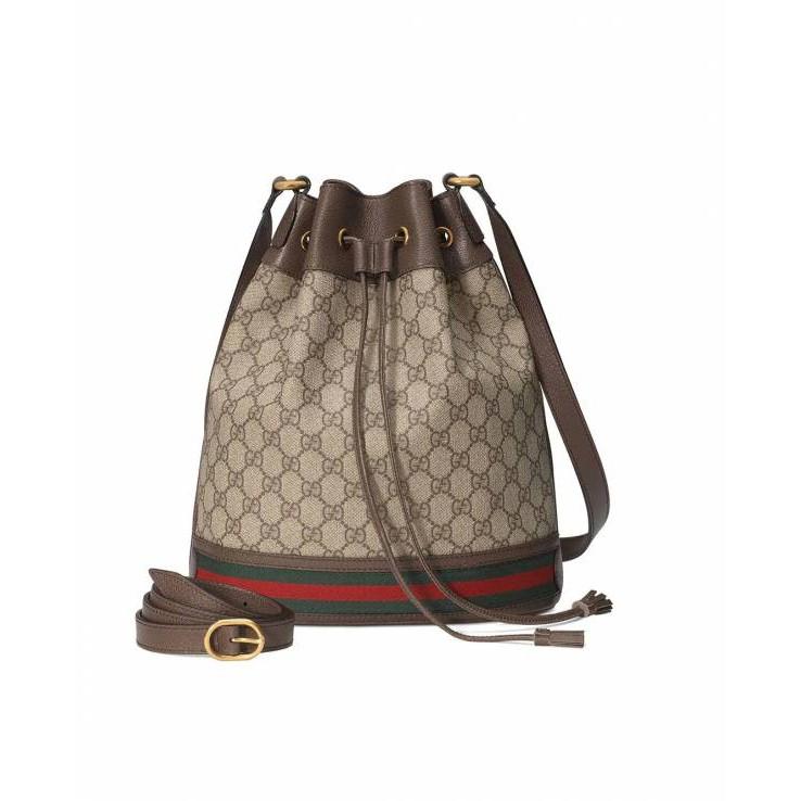 Gucci GG Ophidia 水桶包 supreme塗層大款帆布水桶包
