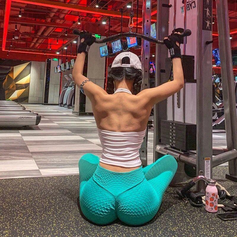 性感吊帶背心瑜伽背心女健身健身服跑步訓練練功舞蹈戶外服裝徒步運動服