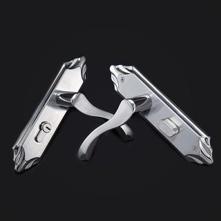 【高品质】不銹鋼室內門鎖單舌臥室實木內門家用房門靜音鎖舌門鎖把手通用