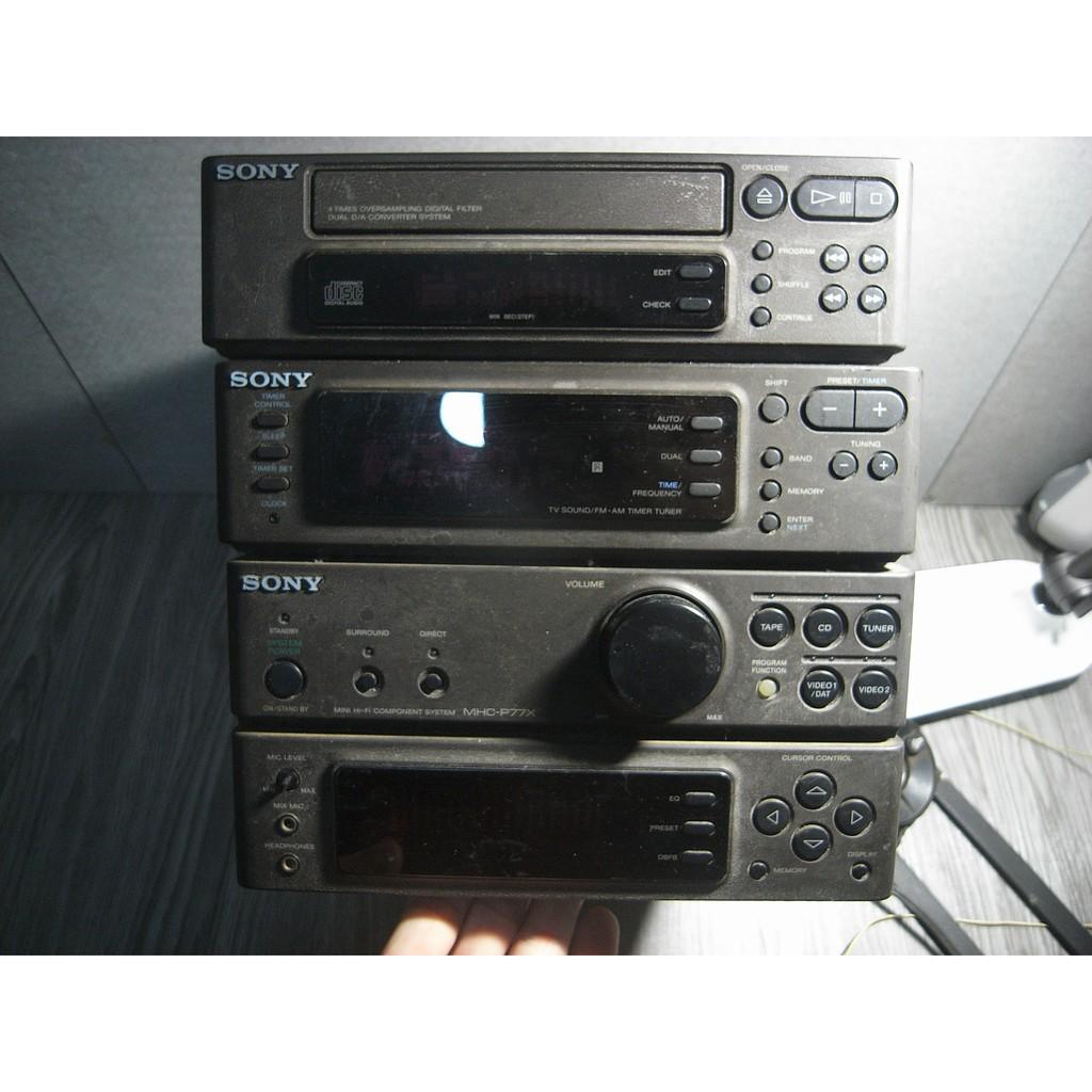 二手 日本製 SONY ST-P77X 組合音響 TA-P77X 擴大機 CDP-P77X