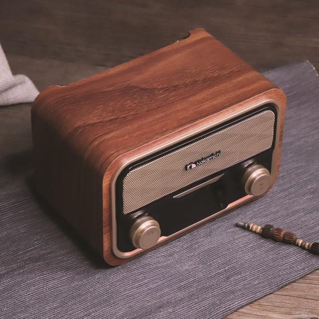 志達電子 SOUNDBOX LITE 日本 Nakamichi 古典柚木藍牙音響喇叭(AUX/FM收音機)