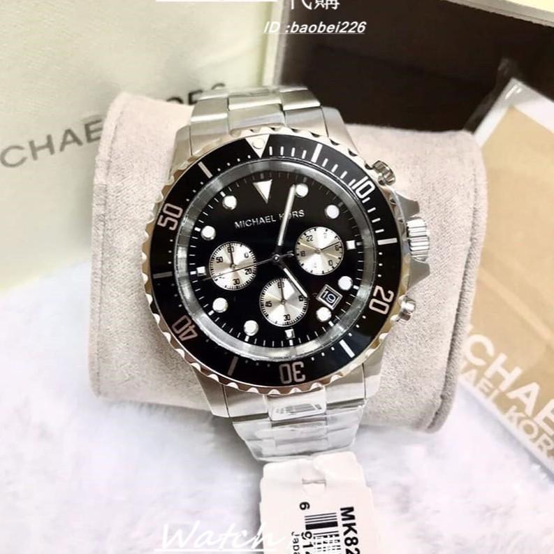 實拍Michael Kors MK8267 MK8311 MK8256水鬼系列三眼計時不銹鋼錶帶腕錶