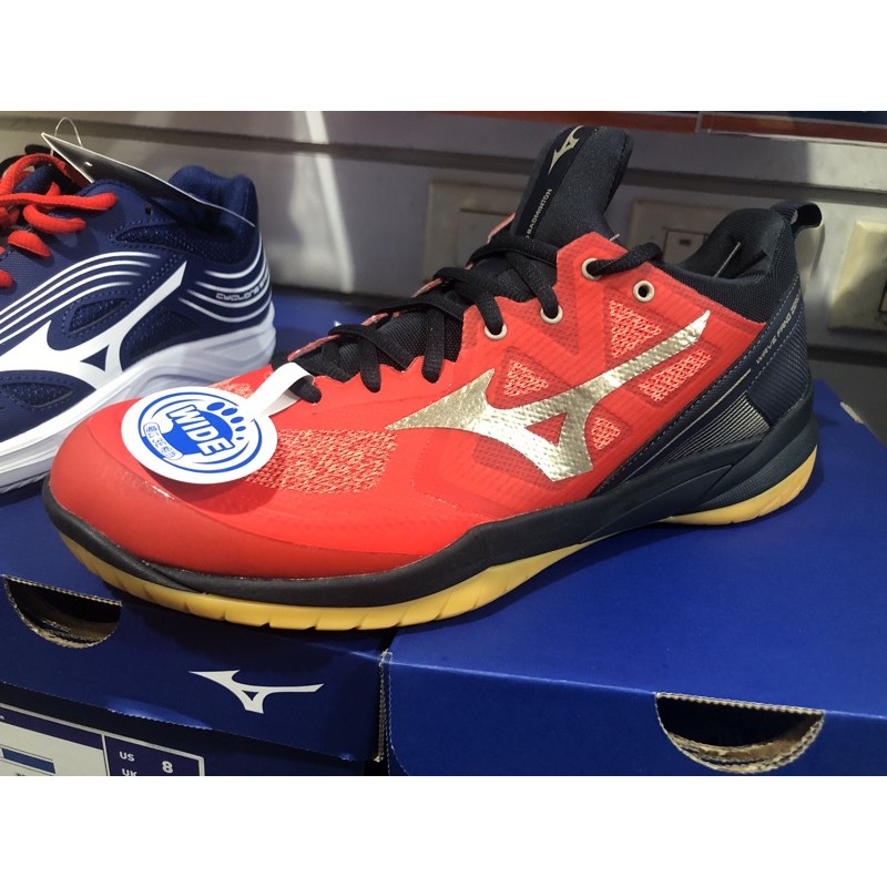 (羽球世家)MIZUNO 美津濃 寬楦 羽球鞋 發泡回彈科技WAVE FANG ZERO 2 71GA219050