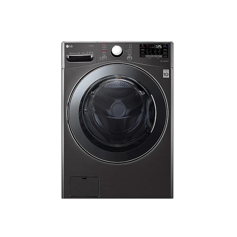 LG樂金 19公斤WiFi滾筒洗衣機(蒸洗脫烘)WD-S19VBS尊爵黑【聊聊再折XXXX】(含標準安裝)