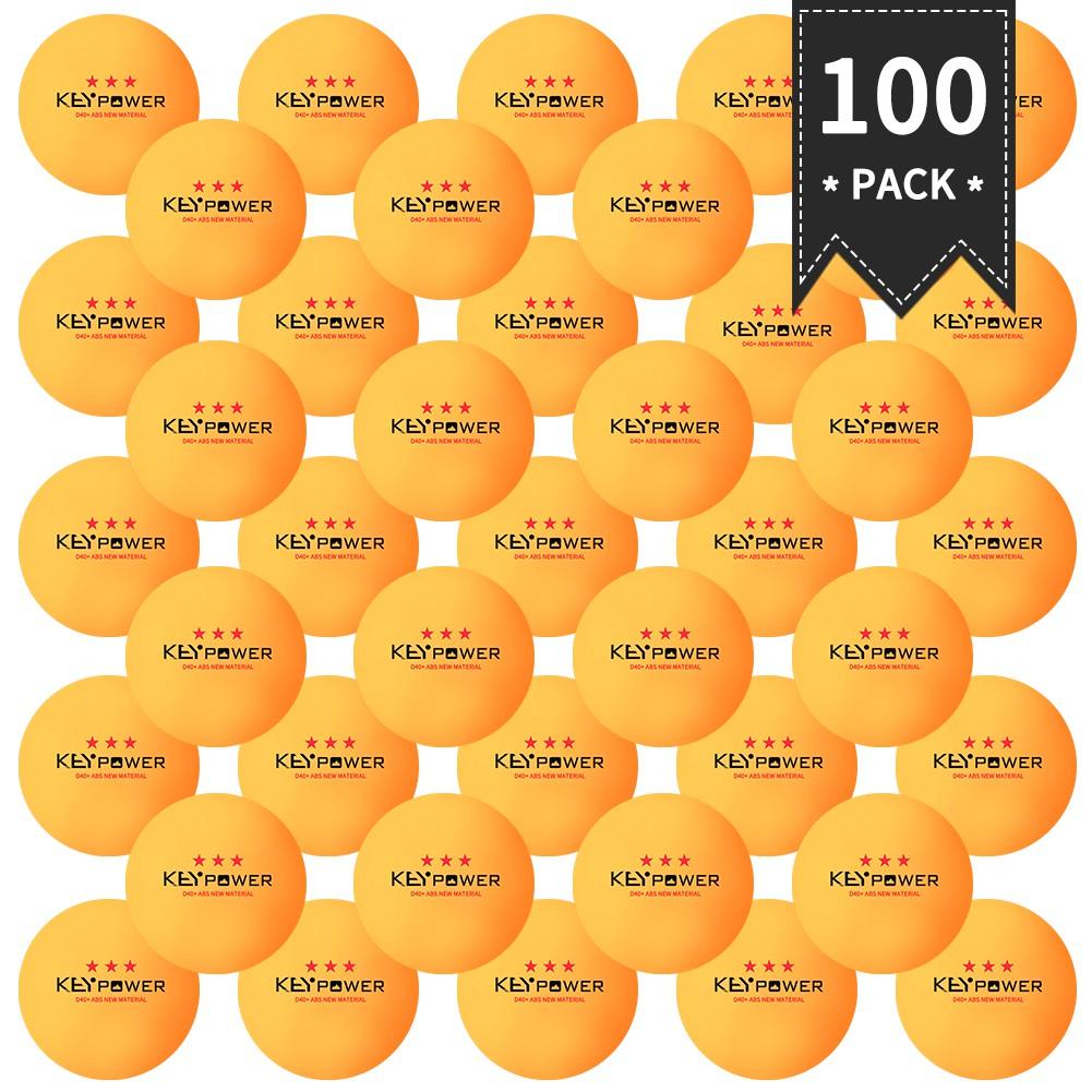 100顆3星40mm 2.7g乒乓球乒乓球白色橙色乒乓球業餘高級訓練球