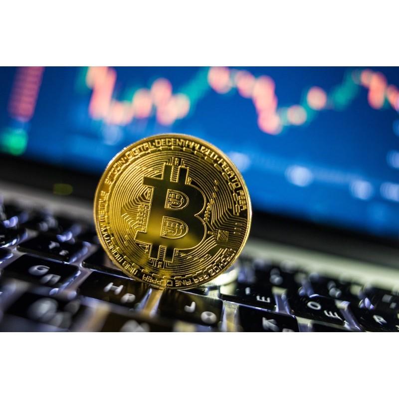 [比特幣 Bitcoin] 比特幣 紀念幣 金色 銀色 有塑膠盒 紀念 擺飾用 非真實網路貨幣