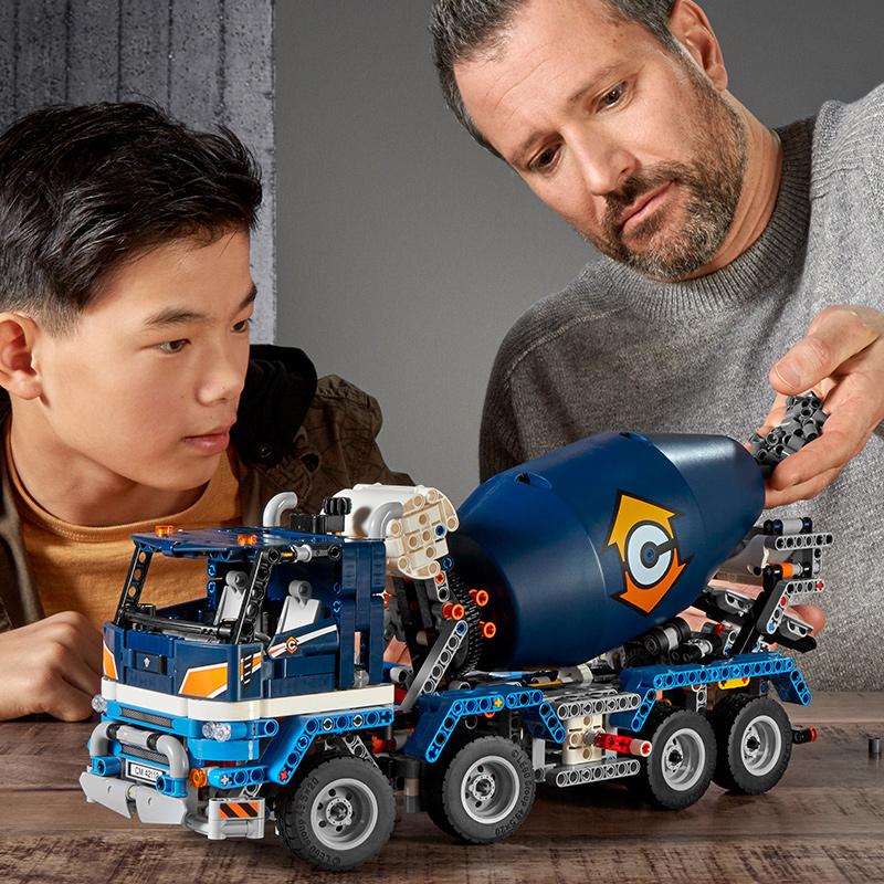 LEGO樂高積木機械組系列42112混凝土攪拌機運輸車男孩子拼裝玩具