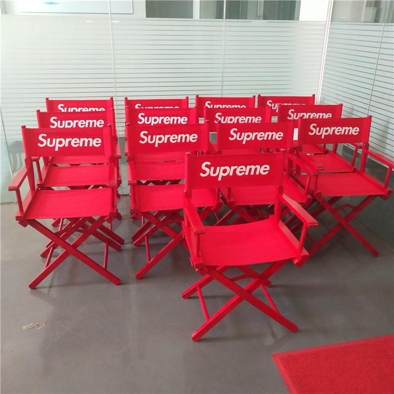 【現貨秒發】折疊椅 便攜帶 輕便折疊椅 supreme導演椅 凳子19SS Director's收納 折疊露營椅