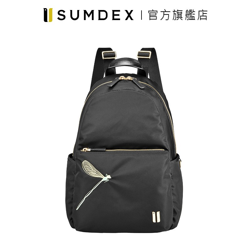 Sumdex 輕巧隨行後背包(蜻蜓版) NOD-770BK-DG 黑色 官方旗艦店