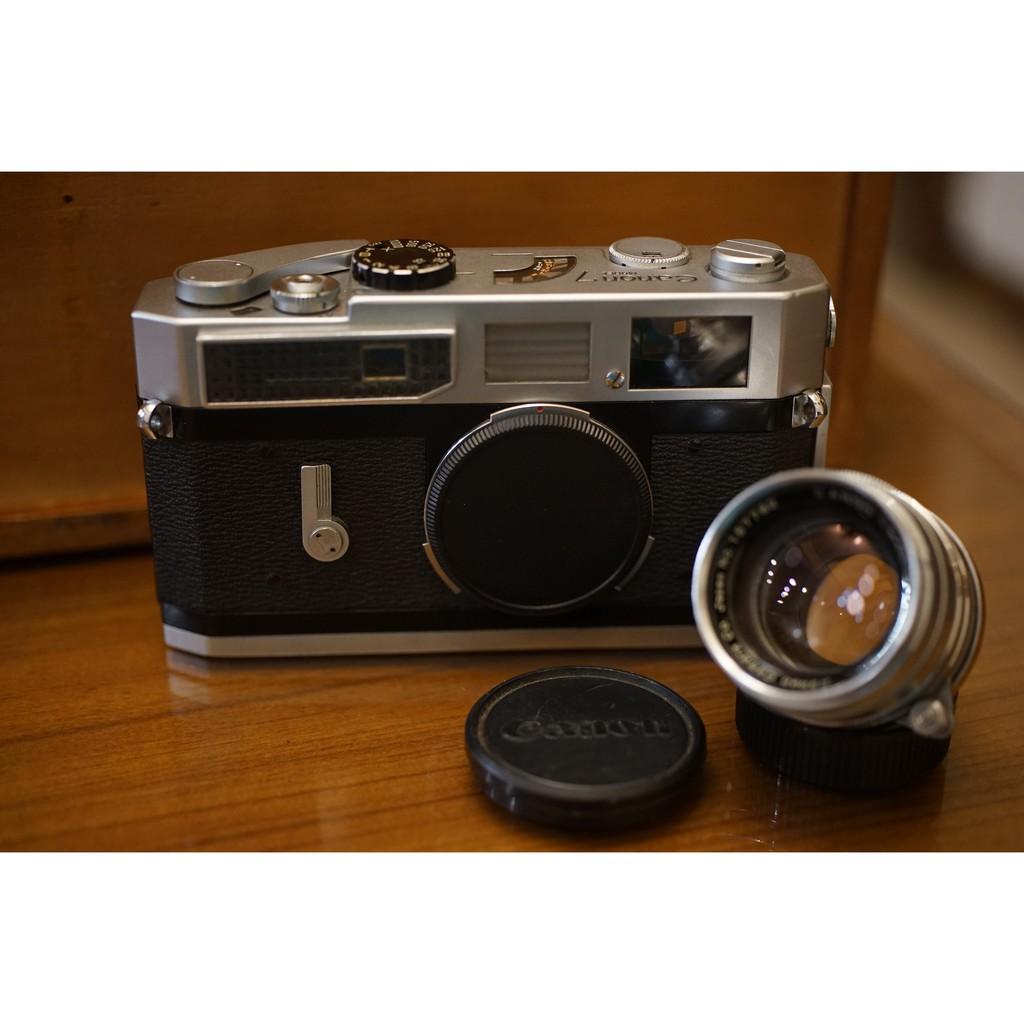 Canon 7 RF旁軸底片機+加購 稀有超大光圈RF老鏡 L39 50mm F1.8 LTM